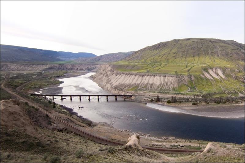 bridge and train tracks